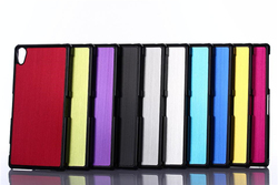 Mobile phone brush aluminum cover case for sony xperia z2