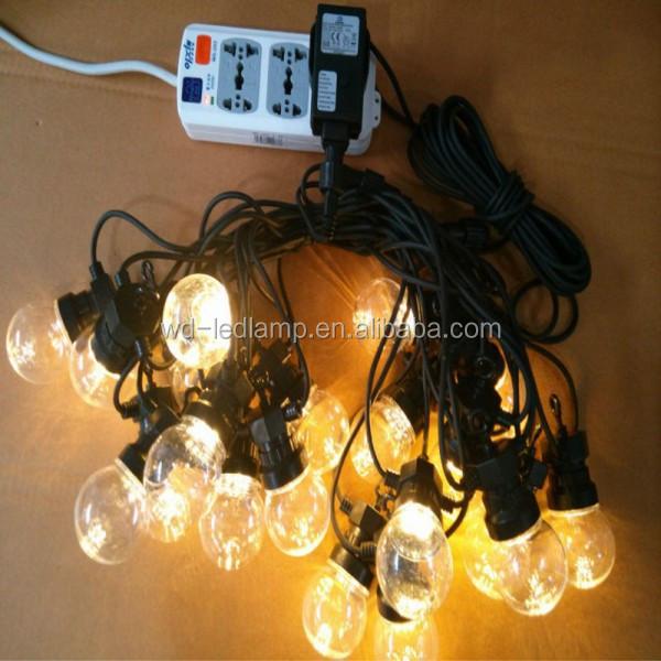 Girlande bellt lichter 24v 10m 20 lampenfassung kranz gürtel licht ...
