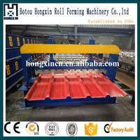 Hongxin Machine zinc roof tile making machine/galvanize roof panel roll forming machine