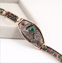 retro turkey alloy bracelet vintgae lady old pattern bracelet