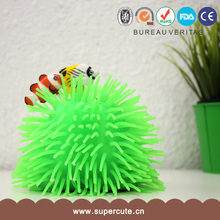 Funny gatget easy to use anemones shape TPR plastic light toy
