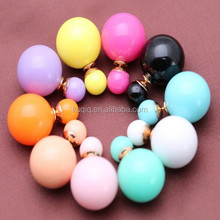 New Design Fashion Candy Color Women Cheap Wholesale Stud Earrings