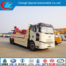 FAW wrecker tow truck 6x4 car recovery heavy duty car towing wrecker road wrecker truck tow truck car recovery