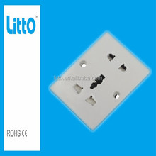 5-Pin 250V Wall Mount Socket Outlets with CE