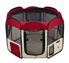 Fabric folding pet playpen for cats and dogs crate
