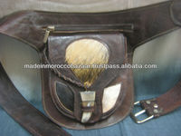 Authentic Moroccan Handmade Leather Bum Money Belt Hip Bag