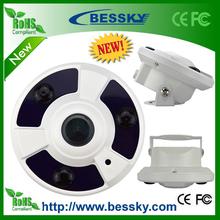 2 megapíxeles 1080P mini cámara <span class=keywords><strong>panorámica</strong></span> Fisheye PTZ virtual de la cámara de ojo de pez ip