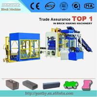 hollow block plant machinery QT10-15 made in brick machine factory