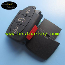 High quality 3 +1 button universal car remote fob 315mhz for audi key 8e0 837 220 q audi a6 remote key M model