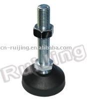 Machine adjustable rubber feet