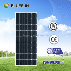 Bluesun solar system use stock mono 120v solar panel