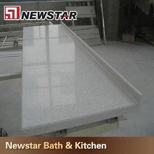 China white sand quartz stone prefab quartz ctystal countertops