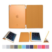 3 folded styles Slim Smart Case for ipad air 1/ air 2 Stand Flip Leather Ultra Thin Smart Cover for iPad 5 / 6 Cases (Orange)
