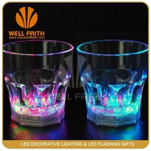 Plastic funny whisky glasses,Shot glasses with led light up for night club