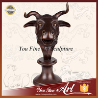 Bronze Bull Bust Statue For Home Decoration