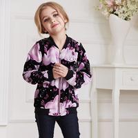 Hot selling girl baseball jacket black embroidered jacket