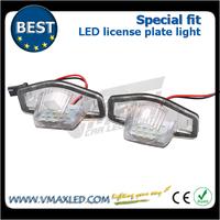Plug&play 12V high lumen auto leds license plate light bulbs for HONDA AZZ/Odyssey08-/Stream/Insight 5D10-/LOGO 3D