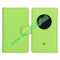 Smooth Texture Wallet Leather Case for Nokia Lumia 1020 with Card Slots and Stand