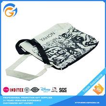 Black and White Tote Vegetable Plastic Shopping Bag