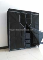 uniquely hot sale standard easycare cloth closet,non woven fabric bedroom wooden wardrobe door designs