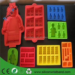 100% food-grade silicone mold set Lego robot super big cake molds, ice lattice