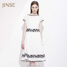 2015 summer white casual chiffon dress chiffon flutter sleeve evening dresses fancy white dresses