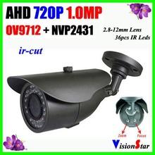 Defog, 720P 1.0 Megapixel Analog AHD Camera 36 Pcs IR Leds 2.8-12mm Varifocal Lens CCTV Bullet Camera Vision Star