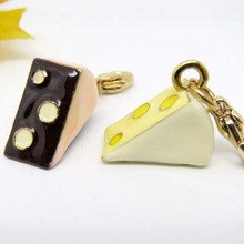 Guangzhou Factory Price Wholesale Food Cake Shaped Charm pendants