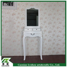 Modern solid wood dresser/dressing table/toilet table with mirror for bed room in EU / US / ASIA market