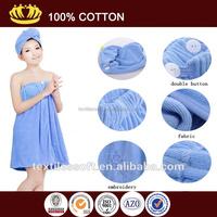 wholesale cheap 100% cotton high-grade sexy hood bathrobe towel