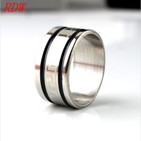 Comfort Fit Design And Custom Cheap Sports Rings With Two Black Color Rings