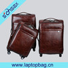 Best price Black Leather travel trolley bags& luggage
