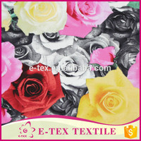 pretty rose printing cotton fabric flower