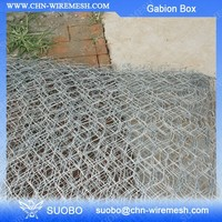 River Training Galfan Wire River Bank Erosion Control Gabion Box