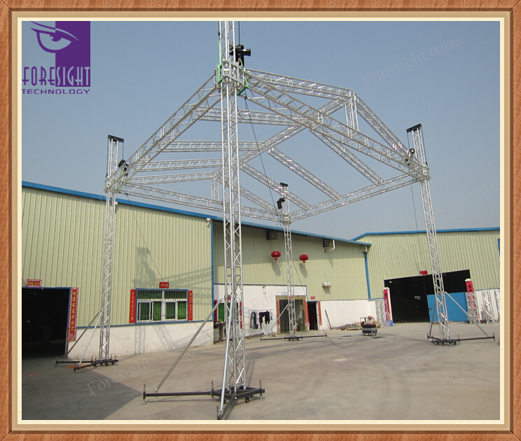diy portable stage small stage lighting truss. Outdoor Metal Wedding Stage Lighting Roof Truss For Sale Buy Diy Portable Small T