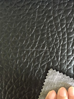 black pvc car seat leather with cheap knitted fabric made in Jiangyin