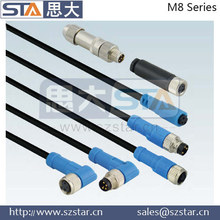 IP67 industrial plugs 718 768 series equal to Binder connectors, male and female connector, m8 connector