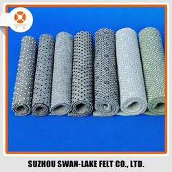 Dot Style and Needle Punched Nonwoven Felt Printed Fabric for Anti Slip