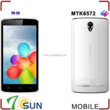 """P8 5"""" Unlocked Android 4.2 Smart Cell Phones Dual Core 3G WCDMA MTK6572 GPS AT&T best selling china android phone"""