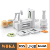 Plastic Onion Chopper and Tri-Blade Plastic Spiral Vegetable Slicer 2 in 1
