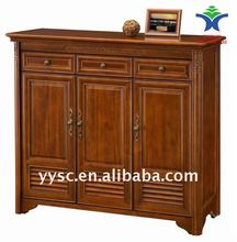 2013 fashionable chinese wooden shoe cabinet design