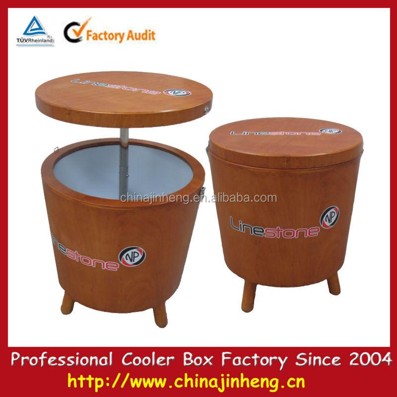 Yangdong Ewin Light Industrial Products Ltd: Garden Wooden Cooler Box Round Barrel Beer Cooler,Wooden