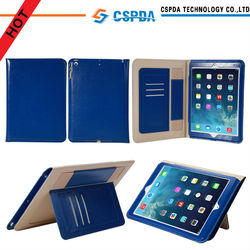 2014 Hot Selling Tablet Case Ultra Slim Case for iPad Air iPad mini Book Cover with Card Slots and Handstrap
