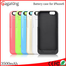 Cell power supply Mobile power case 3500MAH for iphone 6 Mobile phone accessories Mobile battery case