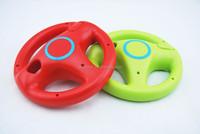Red / Green Mario Kart Racing Games Steering Wheel for Nintendo Wii Remote Game