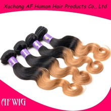 New arrival,100%virgin ombre body wave hair extension High Quality Ombre Hair Weaves