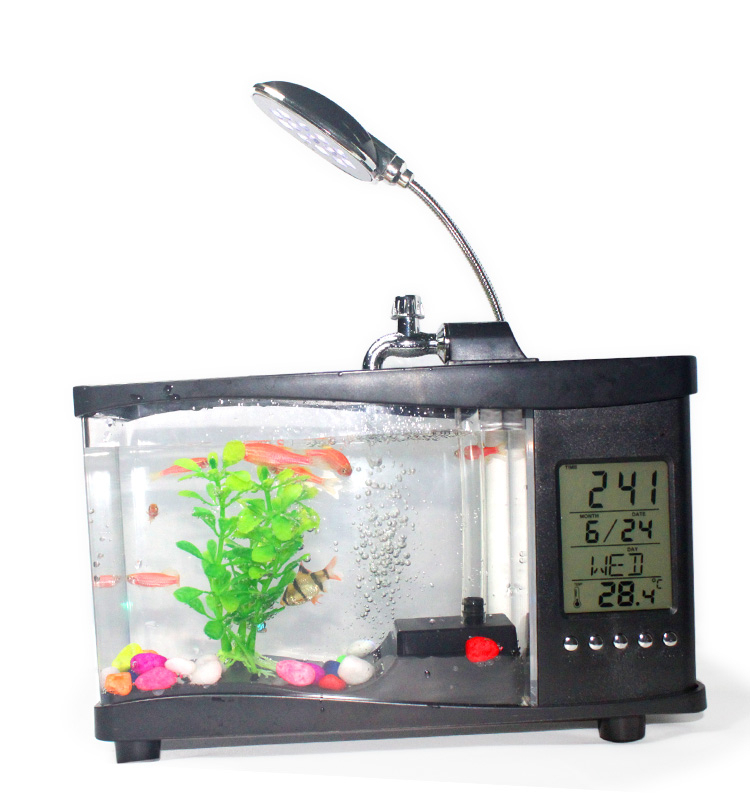 Clear square small fish tank aquarium for christmas for Square fish tank