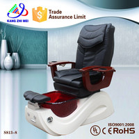 luxury pedicure chair from salon furniture manufacturer with motor recliner in China S813-8