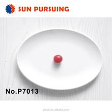 made in China oval melamine cheap white dinner plates for restaurant