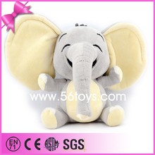 Custom any size any colour soft plush and stuffed elephant toys with big ears